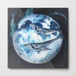 Flying Whales Metal Print