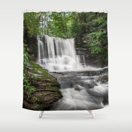Appalachian Waterfall II - Ricketts Glen Adventure Shower Curtain