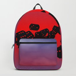 dices black-red Backpack