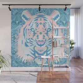 Pastel Quartz Tiger Wall Mural