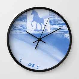 "Unicorn and penguins ""Two Ways To Go"" Wall Clock"