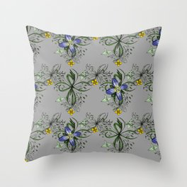 Gewone Ereprijs (germander speedwell) Throw Pillow