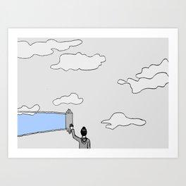 el cielo es azul Art Print