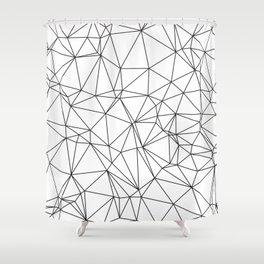 Triangular Deconstructionism Shower Curtain