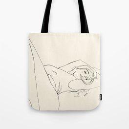 Laying down Tote Bag