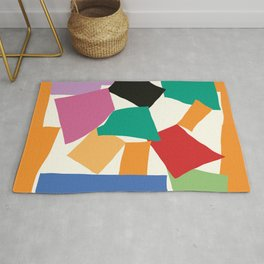 Colorful Collage Matisse Inspired Rug