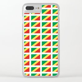 Flag of congo -congolais,congolaise,congolese,brazzaville,kongo,sangha,teke, m'bochi Clear iPhone Case