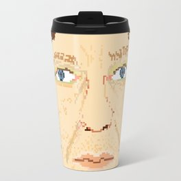 Elliott Smith pixel portrait Travel Mug