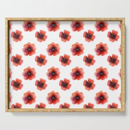 Meadow Red Poppies Serving Tray