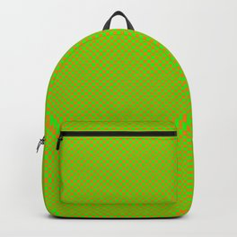 Green and orange squares Backpack