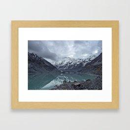 snow capped Framed Art Print