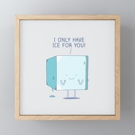 Ice Framed Mini Art Print