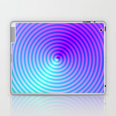 Coiled in Blue and Pink Laptop & iPad Skin