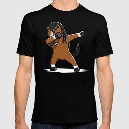 Funny Dabbing Horse Pet Dab Dance T-shirt