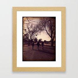 A Long Walk Framed Art Print