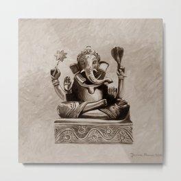 Ganesha - sepia Metal Print