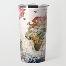 world map colors splats Travel Mug