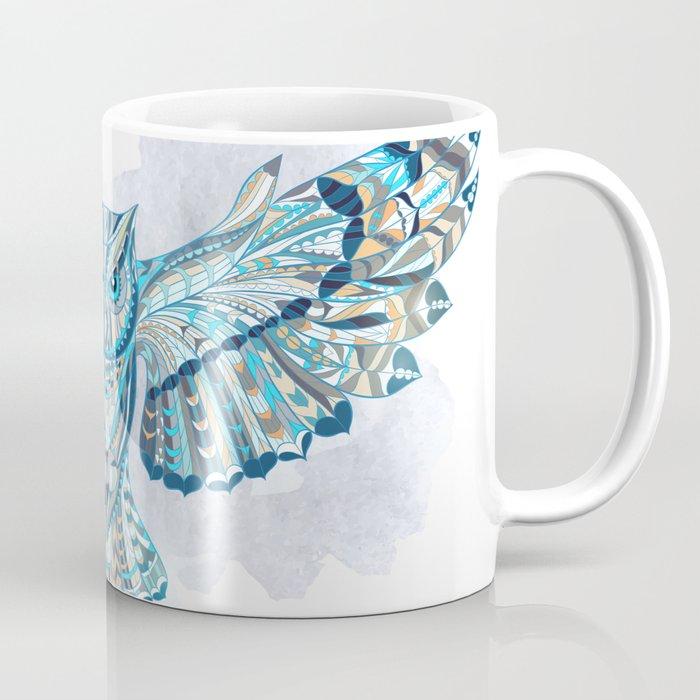 Blue Ethnic Owl Coffee Mug