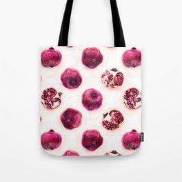 Pink Pomegranate Polka Dots Tote Bag