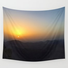 The Sunrise at Moses mountain Wall Tapestry