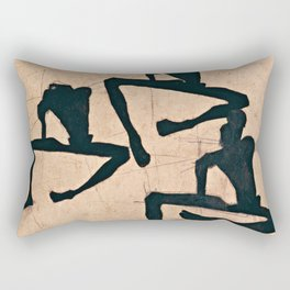 Egon Schiele  -  Composition With Three Male Nudes Rectangular Pillow