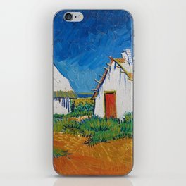 Three White Cottages In Saintes Maries By Vincent van Gogh iPhone Skin