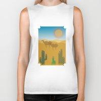 desert Biker Tanks featuring Desert by Loop in the mind
