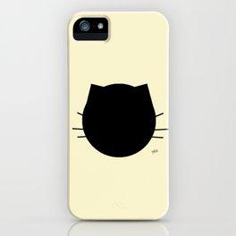 Black cat-Pastel yellow iPhone Case