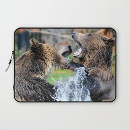 Sparring Grizzly Bears Laptop Sleeve