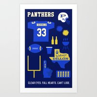 friday night lights Art Prints featuring FRIDAY NIGHT LIGHTS by Anthony Morell