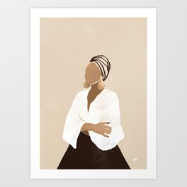 Celia (brown) Art Print