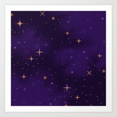 Halloween Galaxy Art Print