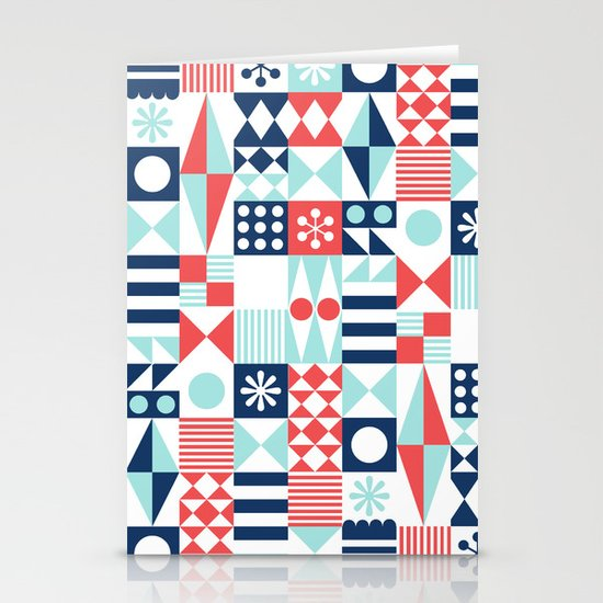 Tradewinds navy Stationery Cards