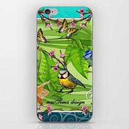 Birdy & Fishy spring blue iPhone Skin