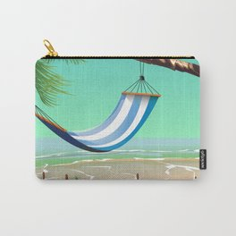 'Pure Paradise' Jamaica travel poster Carry-All Pouch