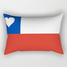 Texas State Flag with Heart Rectangular Pillow