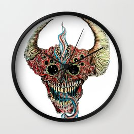 Horn Head Wall Clock