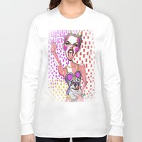 miley cyrus Long Sleeve T-shirts featuring Miley Cyrus by Lauren Gasperlin