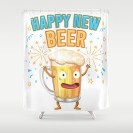 Happy New Beer - Creative New Year Design Shower Curtain