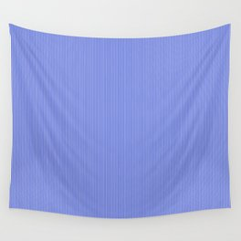 Cobalt Blue and White Vertical Thin Pinstripe Pattern Wall Tapestry