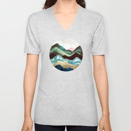 Velvet Mountains Unisex V-Neck