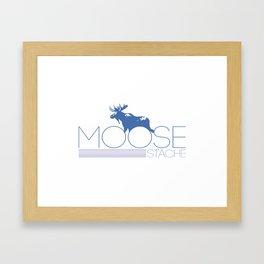 moose stache Framed Art Print