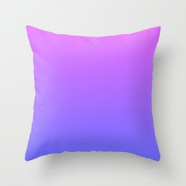 Violet and Blue Gradient Throw Pillow