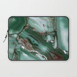 Luxury Malachite Marble Agate Laptop Sleeve