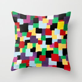 More happy colors Throw Pillow