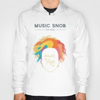 paramore Hoodies featuring Music to DYE for — Music Snob Tip #075 by Elizabeth Owens