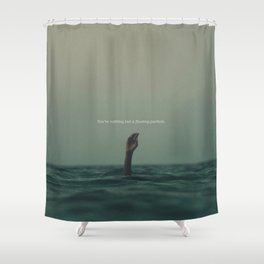 Floating Particle Shower Curtain