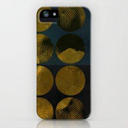 golden winter times iPhone Case