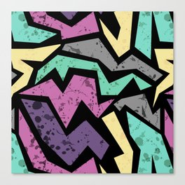 Abstraction. Colorful geometric pattern. Grunge. Canvas Print