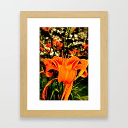 Tigers in the Garden Framed Art Print
